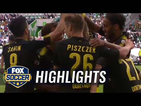 Christian Pulisic scores Dortmund's first goal of the season | 2017-18 Bundesliga Highlights