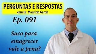 Suco para emagrecer, vale a pena? Perguntas e Respostas com Dr Mauricio Garcia ep 091