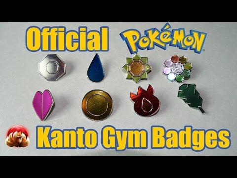 Official Pokemon Kanto Gym Badges