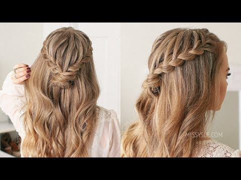 Half Up Lace Braid Mini Bun Missy Sue hair styles