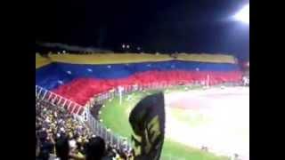 bandera de venezuela gigante estadio   polideportivo de pueblo nuevo tachira vs Racing Club