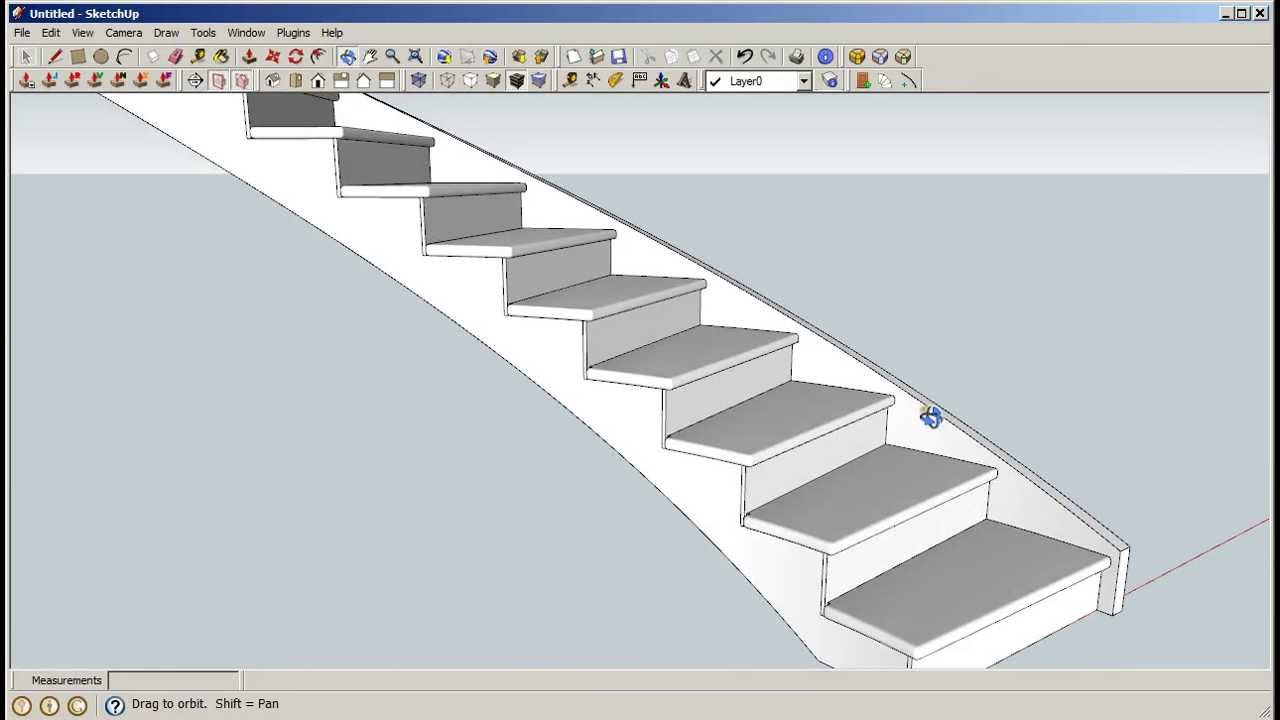 Sketchup Curved Staircase Builder