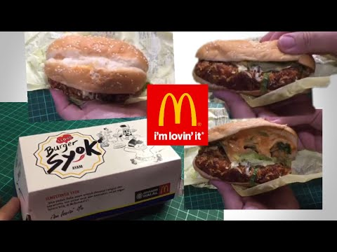 Burger Syok Ayam from McDonald's Malaysia   What's inside the burger?