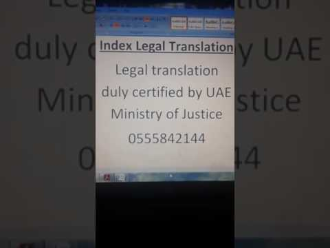 Legal translation Abu Dhabi