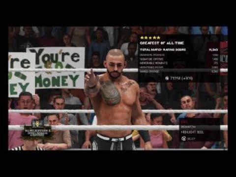 WWE 2K19 rising stars dlc riccochet gameplay and victory  