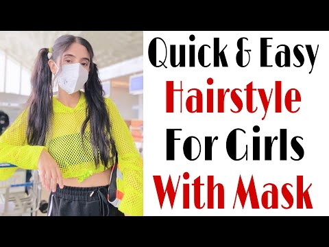 quick-&-easy-hairstyle-for-jeans-&-top- -hair-style-girl- -school-girl-hairstyle- -baby-hair-style