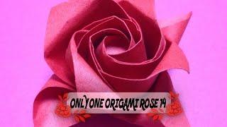 達人折りのバラの折り紙 14 Only one origami rose 14 thumbnail
