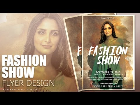 Create a Fashion Show Flyer Photoshop Tutorial