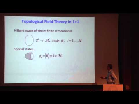 "PiTP 2015 - ""Introduction to Topological and Conformal Field Theory (1 of 2)"" - Robbert Dijkgraaf"