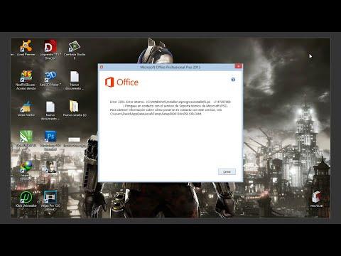 Como solucionar el error 2203 de office