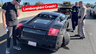 POLICE INSULT ME MOMENTS AFTER MY DREAM CAR IS WRECKED! *LAMBORGHINI CRASH*