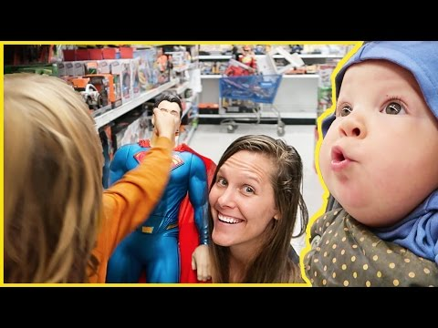 Axel Punches Superman in Toy Store👊😱