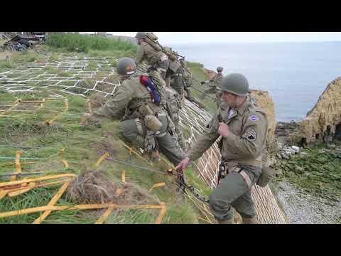 U.S Army Rangers Climb Point Du Hoc (B-Roll) NORMANDY, FRANCE 06.05.2019
