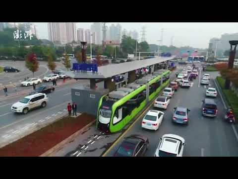 Test run of Autonomous Rail Rapid Transit starts in China's #Hunan