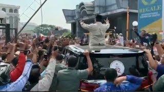 Prabowo Disambut Antusias Warga Medan
