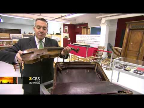 """CBS News - So-called """"Titanic violin"""" up for auction"""