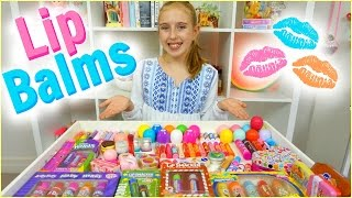 lip balm collection haul eos baby lips lip smackers and more