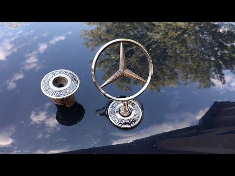 How to change mercedes hood emblem / sign