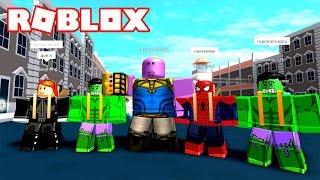 THANOS AL MAXIMO DE PODER!!! 💥 Roblox Superhero Siimulator