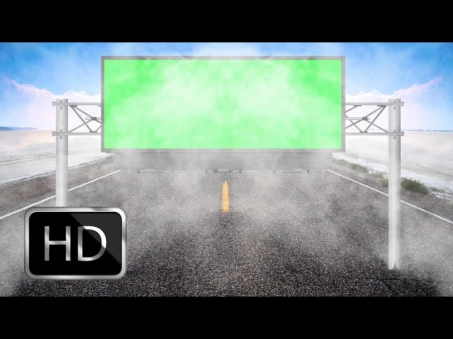HD Wedding Background Videos 1080p-Billboard Green Screen with Cool Smoke Animation