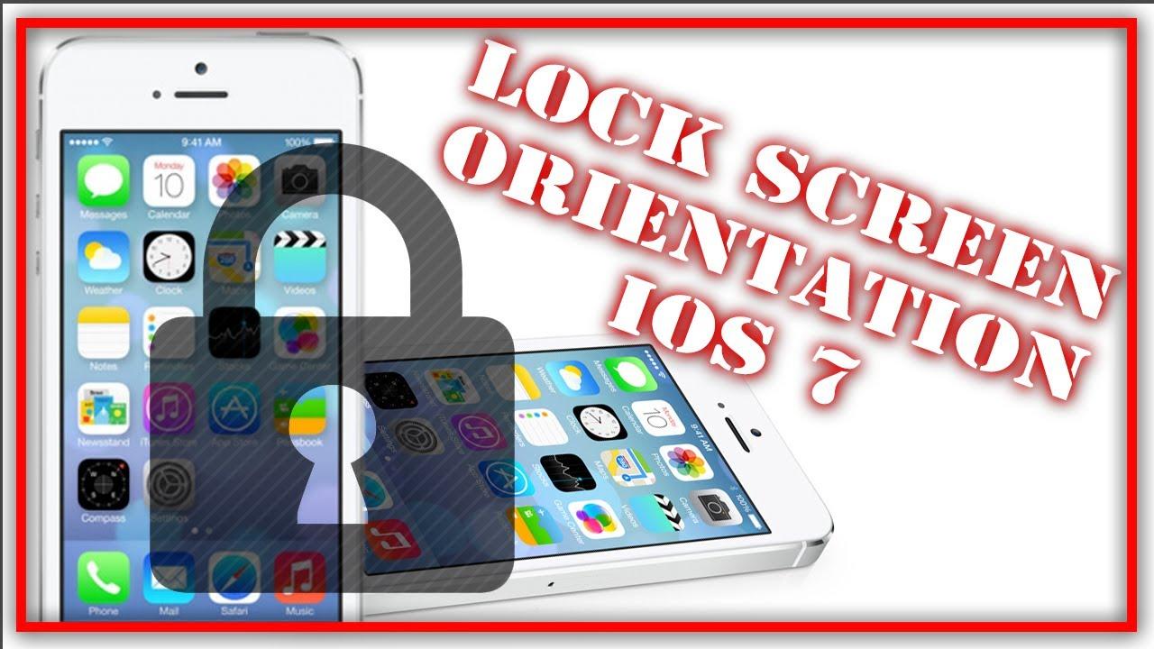 How To Lock Screen Orientation IOS 7/ IOS 8 - IPhone IPad IPod Touch - YouTube