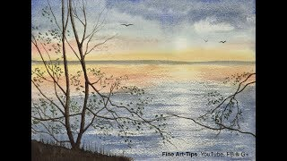 How to Paint a Seascape With Reflections in Watercolor
