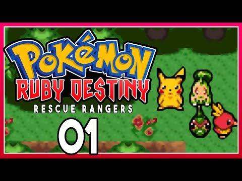 Pokemon Ruby Destiny 2 Rescue Rangers - Part 1 MYSTERY DUNGEON! Pokemon Rom Hack #EMOTIONAL