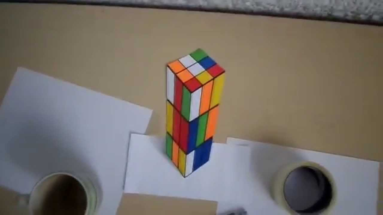 Ilusi n ptica cubo 3d youtube - Ilusiones opticas para imprimir ...