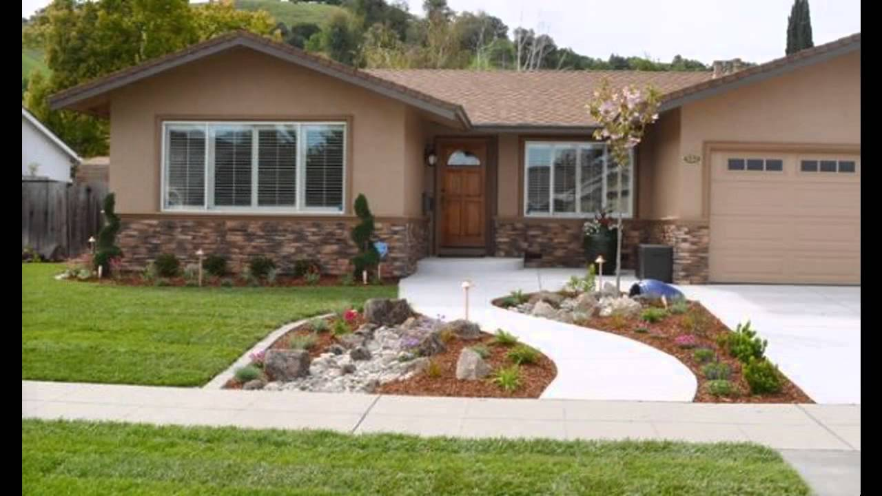 Beautiful front yard landscape design youtube for Simple house garden design