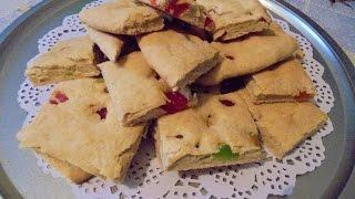 диетическая выпечка - Печенье на кефире с цукатами .