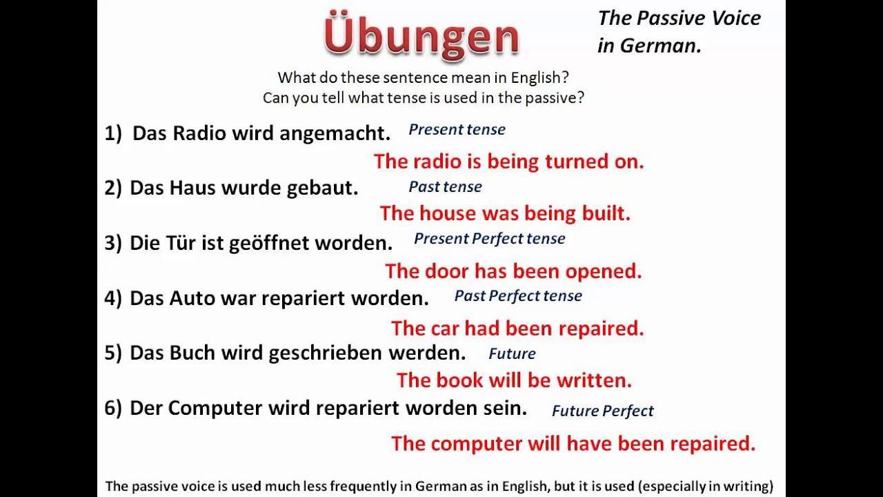 Understanding the passive voice in German - www ...