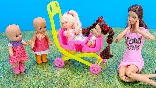 НОВАЯ КОЛЯСКА ДЛЯ СЕСТРИЧЕК Мультик #Барби Куклы Игрушки Для детей Играем в куклы