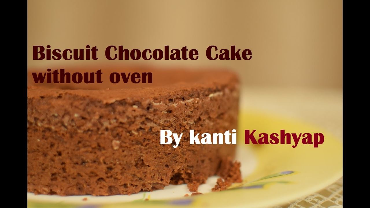 Cake Recipes In Otg Youtube: Spongy Biscuit Eggless Cake Recipe Without Oven In Hindi