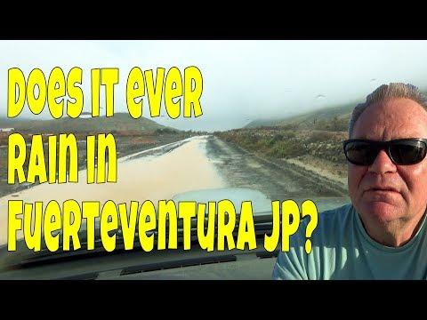 Does It Rain In Fuerteventura? Well It Is Today! Weather In Fuerteventura.