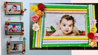 DIY How To Make Colour Paper Photo Frames/ Wall Hanging/ Easy Craft Ideas/ Home Decor/