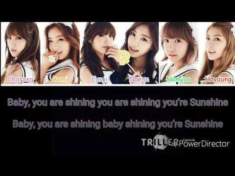 Apink - Sunshine girl Lyrics ( Rom) (Color Coded)