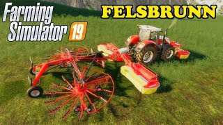 Farming Simulator 19 | Timelapse | Felsbrunn | Episode 37 | ATTACHING A WINDROWER TO A MOWER