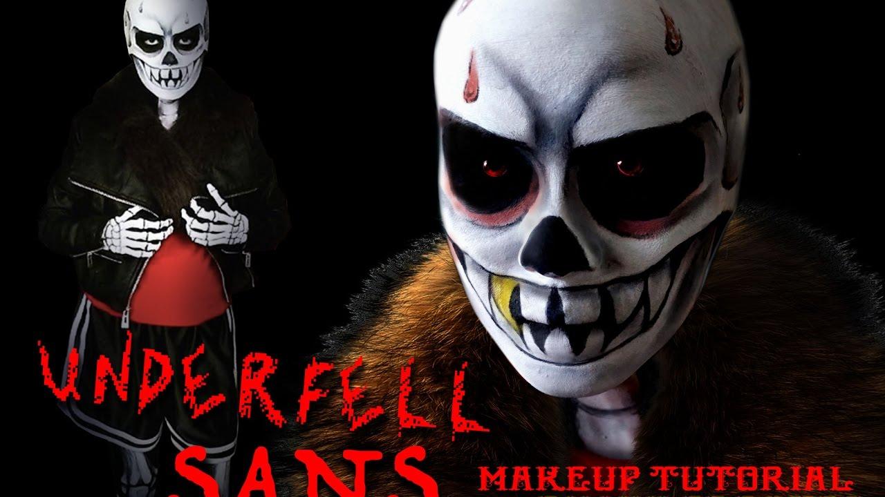 Underfell Sans Makeup Tutorial Youtube