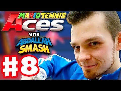 Mario Tennis Aces - Gameplay Walkthrough Part 8 - ZackScottGames Vs Abdallah Smash