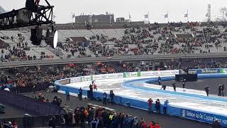 Johann Olav Koss vs Eric Heiden WK allround Amsterdam Olympisch stadion Sunday 11 zondag 11