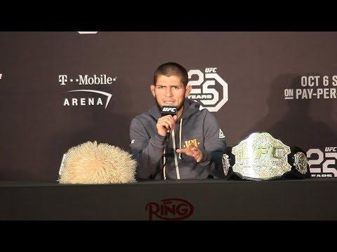 THE FULL KHABIB NURMAGOMEDOV UFC 229 PRESS CONFERENCE: KHABIB BREAKS SILENCE ABOUT POST FIGHT BRAWL