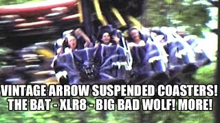Classic Arrow Dynamics Suspended Roller Coasters! The Bat, XLR-8, Big Bad Wolf! MORE!