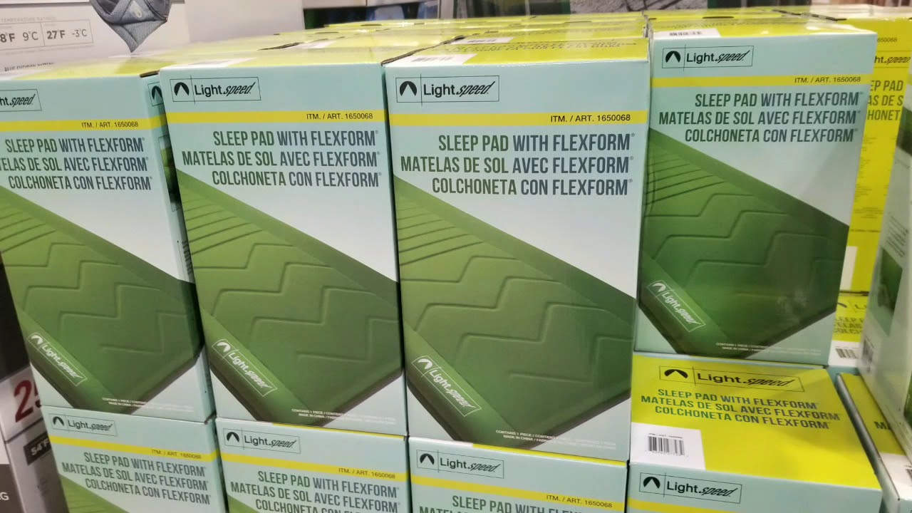 Costco Lightspeed Flexform Self Inflating Sleep Camp
