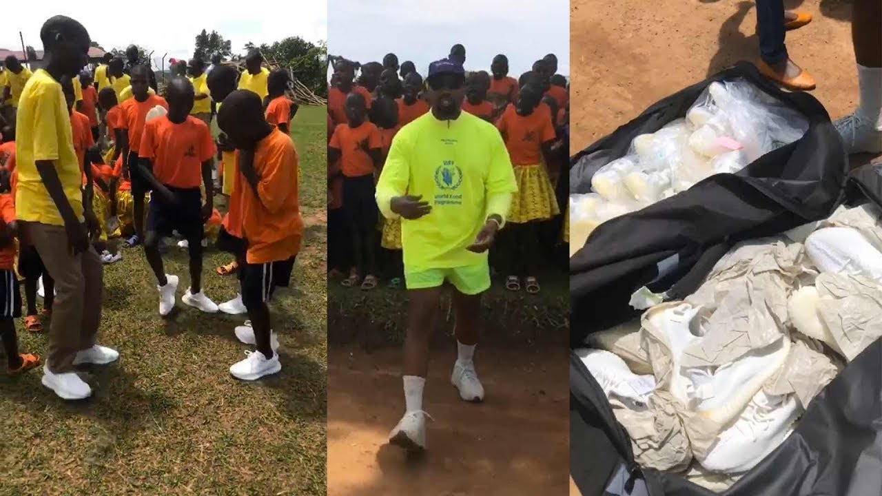 Kanye West & Kim Kardashian Deliver Yeezys to Ugandan Orphan Village