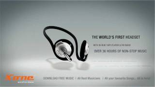 Wirefree Headset with Inbuilt MP3 Player & FM Radio