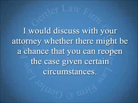 Can I Reopen A Settled Lawsuit From An Older Car Accident?