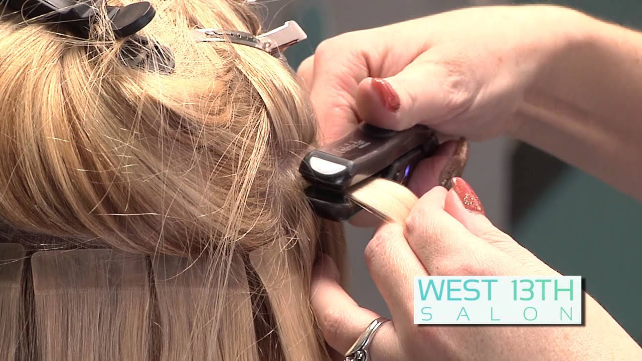 Cinderella t hair tape in hair extensions west 13th salon youtube pmusecretfo Choice Image