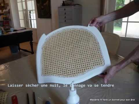 tutoriel en images pour refaire le cannage d 39 une chaise youtube. Black Bedroom Furniture Sets. Home Design Ideas