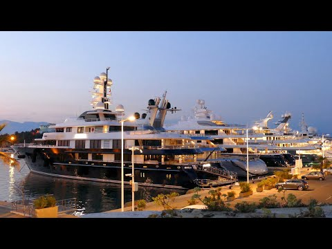 Super Yacht Tour Antibes 4K | Port Vauban