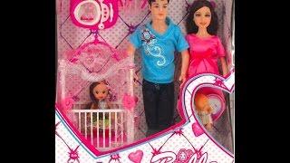 Беременная кукла. Ее семья. Мамы и малыши. Беременная кула скоро родит малыша